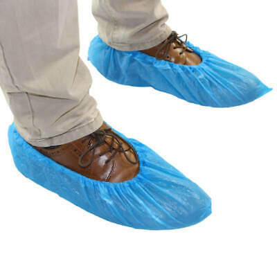 Disposable Blue Overshoes- Embossed Grip Elasticated One Size Fits All