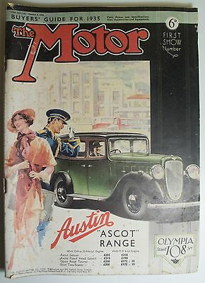 Vintage The Motor Magazine 2 Oct. 1934 Austin Ascot Range - Vintage The Motor