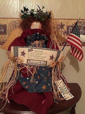Americana country decor Miss Liberty Belle doll decoration