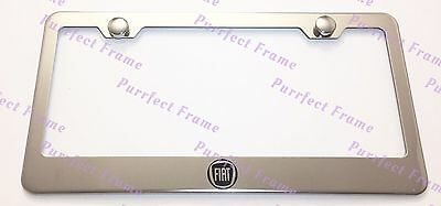500X Fiat Crossover Stainless Steel License Plate Frame Rust Free W// Bolt Caps