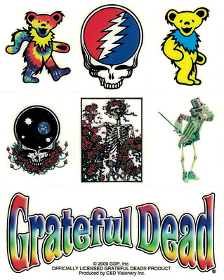 15926 Grateful Dead Jerry Bears Steal Your Face 1960s Sticker / Decal 7 PACK NEW