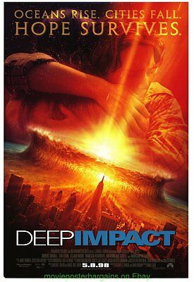 DEEP IMPACT MOVIE POSTER Original DOUBLE SIDED NMint 27x40 ASTEROIDS ! METEORS !