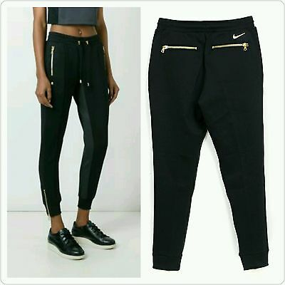 Balmain Nikelab X Or Olivier Rousteing Woman Trousers Black Gold Track Sz M
