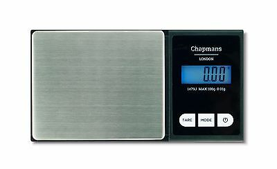 CHAPMANS UK POCKET PRO 1479J DIGITAL WEED SCALES - PRECISE 0.01g JEWELLERY SCALE
