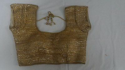 Ready made Stitched Gold Blouse Choli Top  Bollywood Saree Belly Dance Sari