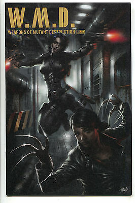Weapons Of Mutant Destruction 1 Lucio Parrillo Variant Domino Lady Deathstrike
