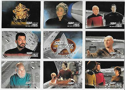 Star Trek THE NEXT GENERATION SEASON 7 EPISODE SERIES Complete 103 Card BASE Set