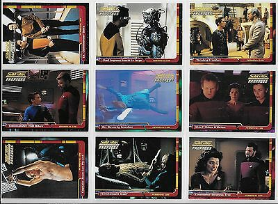 Star Trek TNG THE NEXT GENERATION PROFILES Complete 82 Card BASE Set + Wrap 2000