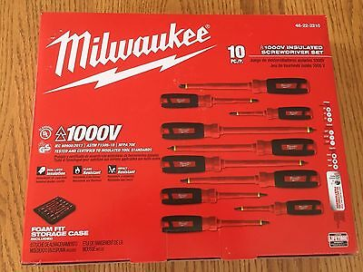 Milwaukee 1000 V Insulated 10 Pc Screwdriver Set 48-22-2210