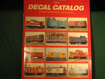 HO O Walthers 1985 Decal Catalog and Reference Guide w Placement Diagrams Used