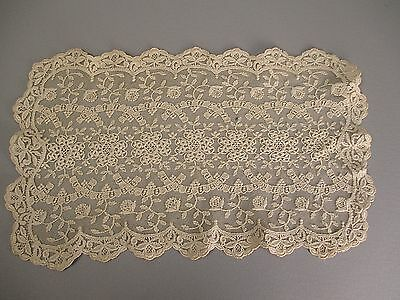 Antique lace doily Embroidered net
