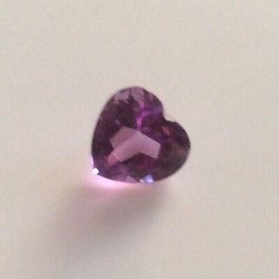 Heart Shape Cut Natural Amethyst 6Mm Faceted 1 Pc Loose Gemstone February