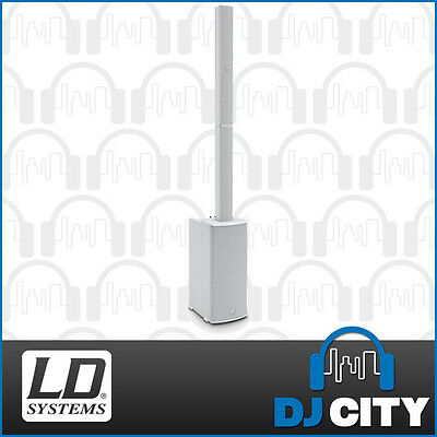 LD Systems Maui11 Gen2 White Column Array Speaker System with Mixer & Bluetooth
