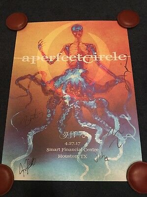A Perfect Circle APC BAND SIGNED Houston Texas Tour Poster 2017 Numbered
