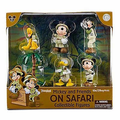 Disney Parks Mickey Mouse Friends Safari Figure Cake Topper Playset New With Box