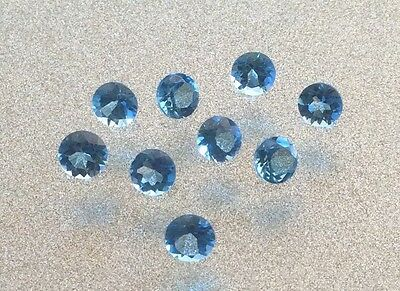 5 Pc Round Cut Shape Natural Blue Topaz 2Mm Faceted Loose Gemstone