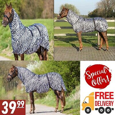 PREMIUM FLY COMBO RUG FIXED NECK WITH BELLY FLAP AND TAIL ZEBRA **SALE**