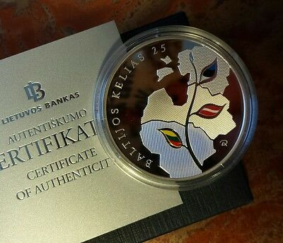 2014 Lithuania Baltic Way 1oz Silver Proof