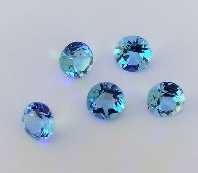4 Pc Round Cut Shape Natural Blue Topaz 3.5Mm Faceted Loose Gemstone