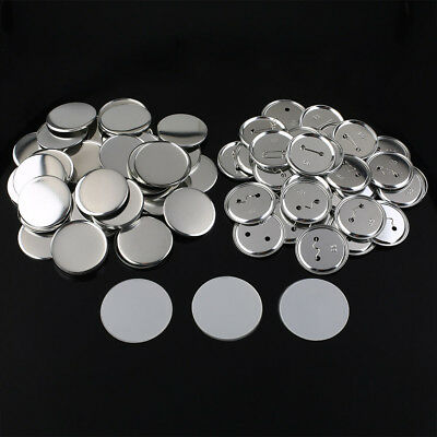 100Sets 32mm/37mm/58mm Pin Badge Button Parts Supplies for Pro Maker Machine