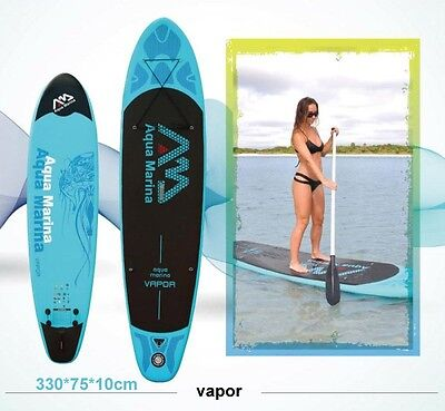 11' Vapor River Deluxe Inflatable Stand Up Paddle Board Surf Board Boat Beach