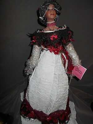 "Paradise Galleries , Kathleen Hill Doll, ""Louise"", COA #A281, 21"", VHTF"