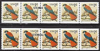 PNC5 1c Kestrel US3044, US3044a  Lot (2) MNH F-VF