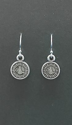 Turkish Coin Earrings With Sterling Silver Hooks