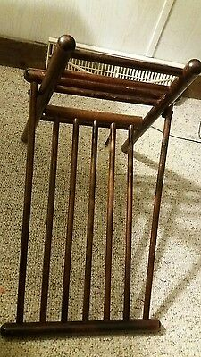 Vintage wood foot Stool Leg Rest Medical Furniture