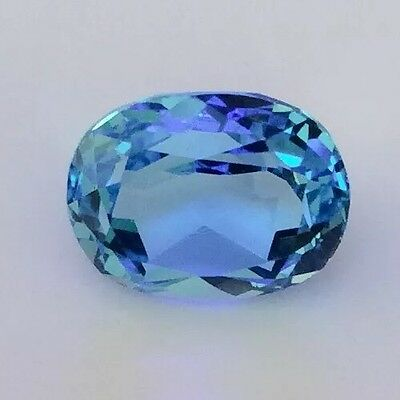 1 PCX OVAL CUT SHAPE NATURAL BLUE TOPAZ 2.69CT 10MM x 8MM FACETED LOOSE GEMSTONE