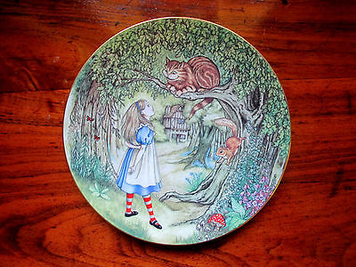 Vintage Alice Meets the Cheshire Cat Collector Plate Sandy Nightingale Limoges