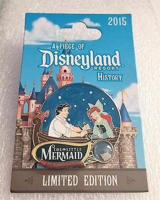 Disney The Little Mermaid Ariel A Piece of Disneyland History 2015 LE 2000 Pin