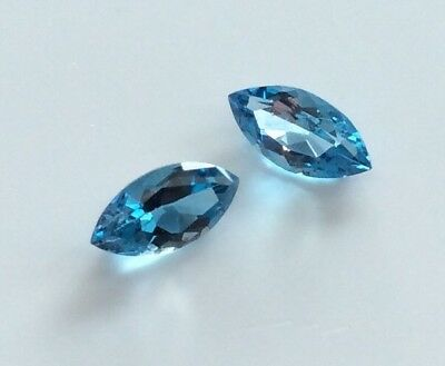 MARQUISE CUT SHAPE NATURAL BLUE TOPAZ  8x4MM FACETED LOOSE GEMSTONE
