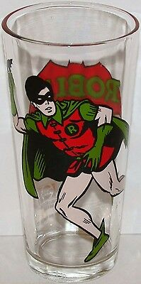 Vintage character glass ROBIN 1978 DC comics Pepsi Collector Series n-mint cond