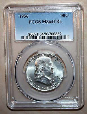 1956 Franklin Half Dollar - PCGS MS64FBL