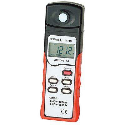 Light Meter, Measures to 40000 lux and 4000 fc (15% Sale)