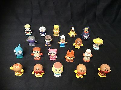 Lot Of 20 Vintage Bandai Japan Anpanman And Friends PVC Small Finger Puppets