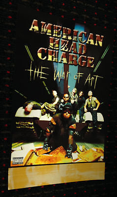 AMERICAN HEAD CHARGE The War of Art original 11x17 promo poster 2sided