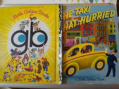 1970s (1973) Little Golden Book The Taxi That Hurried