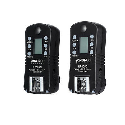 Yongnuo RF 605C Wireless Radio Flash Trigger Slave for Canon Camera DSLR