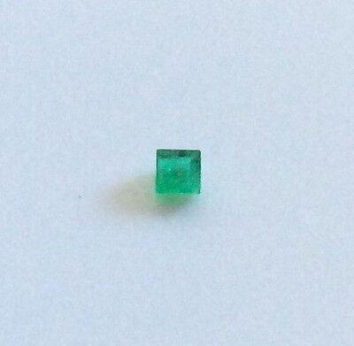 PRINCESS CUT NATURAL EMERALD 1.5MM x 1.5MM FACETED 1PC LOOSE GEMSTONE