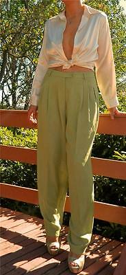 VINTAGE Cue Design 1980s Original Tailored High Waisted Baggy Tapered Leg Pants