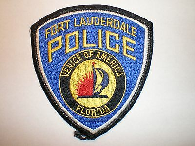 FL Florida Fort Lauderdale police patch Venice of America