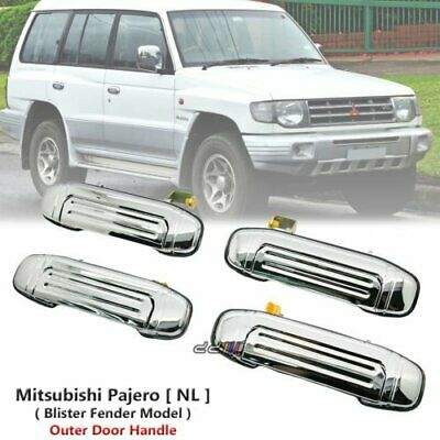 Set x4 Chrome Front Rear Outer Door Handle For Mitsubishi Pajero NL 1997-99