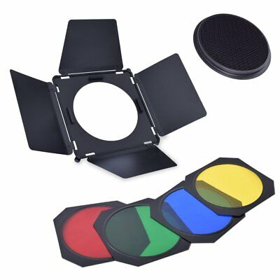 Studio Barndoor+ Grid & Color Filter Gel for Diameter 16~21cm Standard Reflector