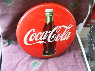 Insegna A Bottone Latta Coca Cola Originale Shabby Chic Industrial Chic