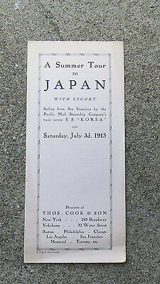 Vtg 1915 Summer Tour to Japan San Francisco Pacific Mail Steamship S.S. Korea