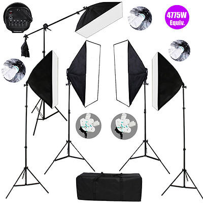 4775W Photography Studio Softbox Continuous Lighting Soft Box Light Stand Kit
