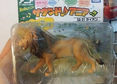 Japan Africa Male Lion Animal PVC Figure with sound effect