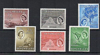 Seychelles 1954-61 70c to 10r MLH/MH